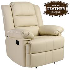 Cream Leather Club Chair Loxley Cream Leather Recliner Armchair Sofa Home Lounge Chair