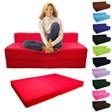 Folding Cushion Chair Bed Impressive On Folding Foam Chair Bed With Details About Fold Out