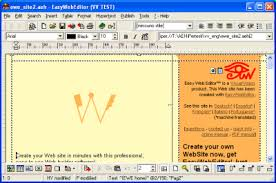 web design software freeware create a web site quickly without coding easy web editor the