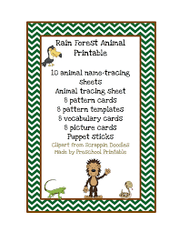 rain forest animal printable preschool printables