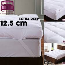 Goose Feather Bed Topper 12 5cm 5 U201d Extra Deep 100 Goose Feather U0026amp Down Mattress Topper