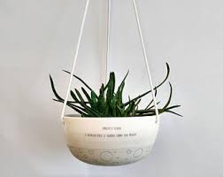 large hanging planter ceramic plant hanger succulent pot