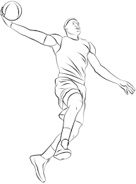 basketball player coloring free printable coloring pages