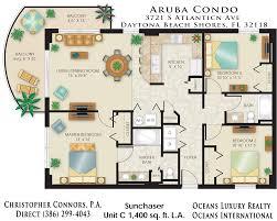 aruba condos floor plan 3721 s atlantic ave 32118 daytona