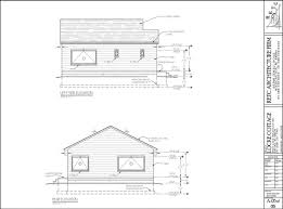 House Elevation Dimensions by Locke Cottage Cad Drawing Locke Portfolio