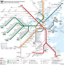 Boston Zoning Map by Boston Red Line Map Mbta Map Red Line United States Of America