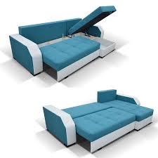 canape angle avec coffre canapé d angle universel transformable en lit en tissu et pu
