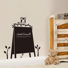 owls cartoon calendar chalkboard memo blackboard wall sticker home
