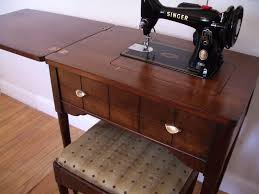 Singer Sewing Machine Desk Antique Singer Sewing Machine And Cabinet Dream Home Pinterest