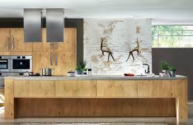 ilot cuisine bois massif cuisine contemporaine en bois massif en bois avec îlot gl xl