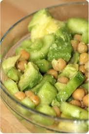 cuisiner concombre salade de concombre avocats et pois chiche la cuisine de dali