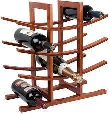 rta la pagode 12 bottle countertop bamboo wine rack modular system