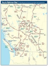 mileage map columbia and alberta the milepost