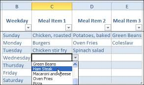 Meal Plan Excel Template Monthly Meal Planner Template Excel Thebridgesummit Co