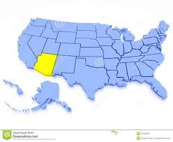Arizona Map Us by Us 3d State Map Stock Photo Image 28816300