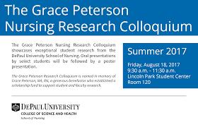 via sapientiae grace peterson nursing research colloquium