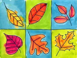 really sweet fall leaf art for little hands love the borders