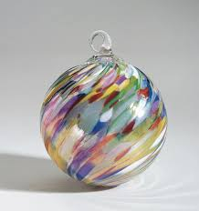 mt st helens volcanic ash blown glass ornament circus