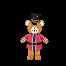 home depot led christmas lights home accents holiday 49 in led lighted tinsel teddy bear soldier