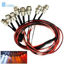 amazon com kalevel led light for rc trucks cars 8 led rc car led