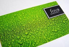 four seasons green business card u2013 digital graphic design inspiration