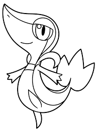 pokemon coloring pages of snivy snivy coloring pages learnfree me