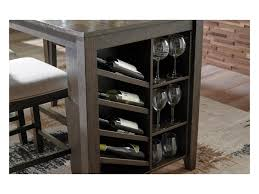 counter table with storage signature design by ashley rokane d397 32 rectangular counter table