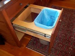 pull out trash can for 12 inch cabinet trash pullout high vs low attachment