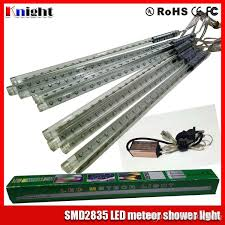 led meteor shower tube lights 30 50 80cm smd2835 meteor shower set led star rain tube light 220v