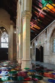 colorful mirror installation on a former church floor u2013 fubiz media