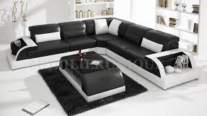 canape angle noir et blanc canapé d angle en cuir italien max 2