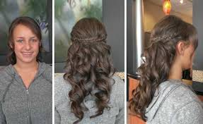 prom hairstyles with braids and curls half up half down styles u