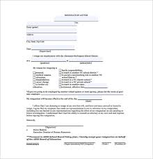 12 resignation letter format templates free sample example
