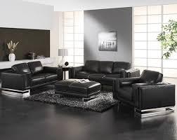 Silver Living Room Furniture Living Room Black Leather Living Room Set Leather Sofa Set All