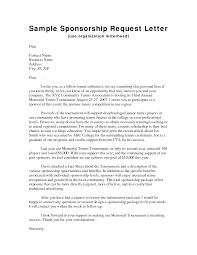 personal sponsorship letter