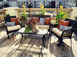 Blue Outdoor Cushions Navy Blue With A Rust Orange Color Scheme Summer Patio Deck
