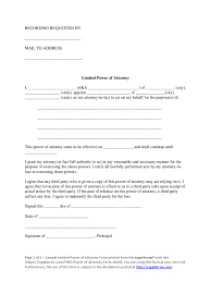 Will Power Of Attorney Forms by Limited Power Of Attorney Form 37 Free Templates In Pdf Word