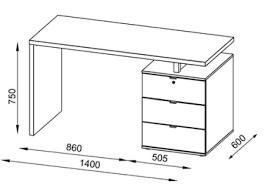 plan bureau de travail bureau informatique design blanc laqué rosebeud bureau bureau