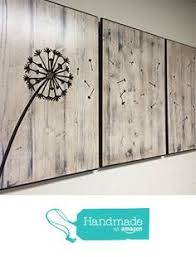 dandelion wood plaques wall dandelion wall wood wall big dandelion pallet sign