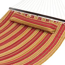 hammock quilted fabric w pillow double size spreader bar heavy