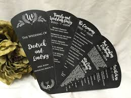 chalkboard program wedding chalkboard shabby chic petal fan wedding program the wedding