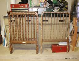 how to convert a jenny lind crib into a twin headboard u2013 four to adore