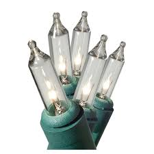 shop ge 100 count clear mini christmas string lights at lowes com