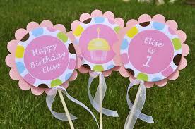 Birthday Decorations For Girls Centerpiece Sticks Girls 1st Birthday Party Personalized