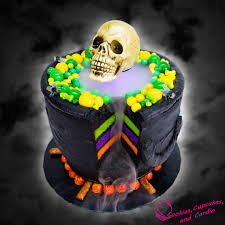 Halloween Skull Cakes by How To Make A Bubbling Cauldron Cake For Halloween