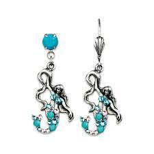 mermaid earrings mermaid earrings koplik designs