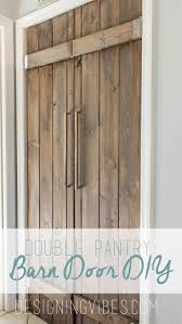 How To Build A Barn Door Frame Best 25 Double Closet Doors Ideas On Pinterest Barn Doors For