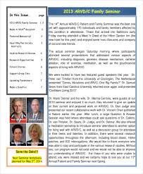 20 sample newsletter templates free word pdf excel format