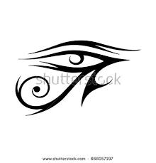 sun eye horus moon eye stock vector 668057197