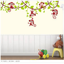 online get cheap plastic smoking monkey aliexpress alibaba removbale decorative monkey wall stickers self adhesive pvc decals for kids room baby